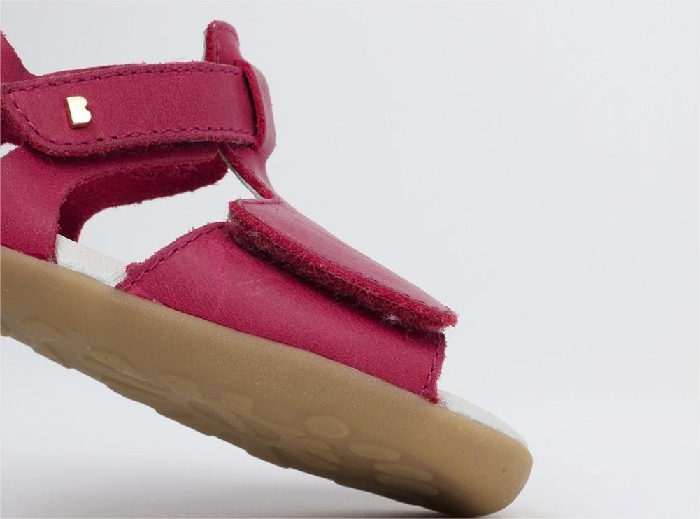98af71c596b Детски кожени сандали за прохождане Bobux: Mirror Dark Pink цена