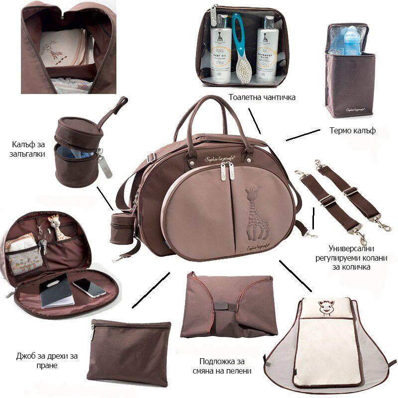 2bcda03a2e1 Чанта подходяща за смяна на памперси и съхранение на всички необходими  артикули за бебе, когато сте навън!